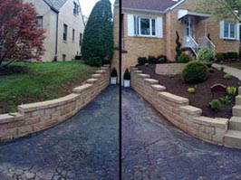 North Hills retaining walls