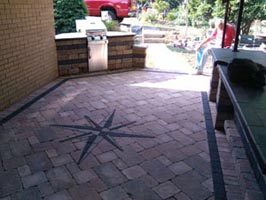 North Hills outdoor patio pavers